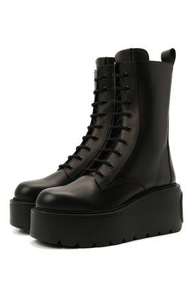Женские кожаные ботинки uniqueform VALENTINO черного цвета, арт. WW2S0AR2/RBJ | Фото 1