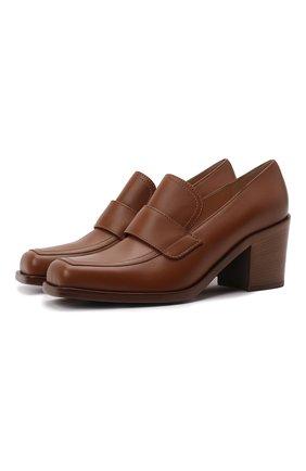 Женские кожаные туфли GIANVITO ROSSI коричневого цвета, арт. G25228.60CU0.CLNCU0I | Фото 1