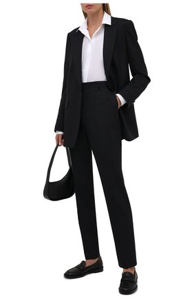 Женские кожаные лоферы GIANVITO ROSSI черного цвета, арт. G25248.51CU0.CLNNER0 | Фото 2