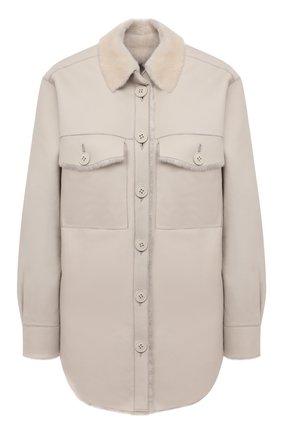 Женская куртка из овчины FORTE DEI MARMI COUTURE кремвого цвета, арт. 21WF1925 | Фото 1