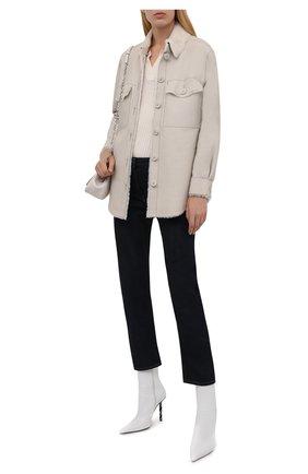 Женская куртка из овчины FORTE DEI MARMI COUTURE кремвого цвета, арт. 21WF1925 | Фото 2