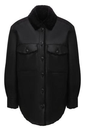 Женская куртка из овчины FORTE DEI MARMI COUTURE черного цвета, арт. 21WF1926 | Фото 1