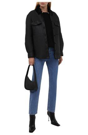 Женская куртка из овчины FORTE DEI MARMI COUTURE черного цвета, арт. 21WF1926 | Фото 2