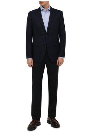 Мужские кожаные дерби SANTONI темно-коричневого цвета, арт. MCCG17749MM4HFULT50 | Фото 2