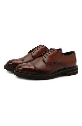 Мужские кожаные дерби H`D`S`N BARACCO коричневого цвета, арт. 81218.B.0* | Фото 1