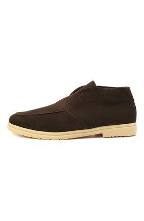 Мужские замшевые ботинки ANDREA VENTURA FIRENZE темно-коричневого цвета, арт. W-SAIL0R PANAREA/SHEARLING/CACHEMIRE/WS-IV0RY | Фото 3 (Материал утеплителя: Натуральный мех; Мужское Кросс-КТ: Ботинки-обувь, зимние ботинки; Материал внутренний: Натуральная кожа; Подошва: Плоская; Материал внешний: Замша)