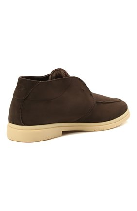 Мужские замшевые ботинки ANDREA VENTURA FIRENZE темно-коричневого цвета, арт. W-SAIL0R PANAREA/SHEARLING/CACHEMIRE/WS-IV0RY | Фото 4 (Материал утеплителя: Натуральный мех; Мужское Кросс-КТ: Ботинки-обувь, зимние ботинки; Материал внутренний: Натуральная кожа; Подошва: Плоская; Материал внешний: Замша)