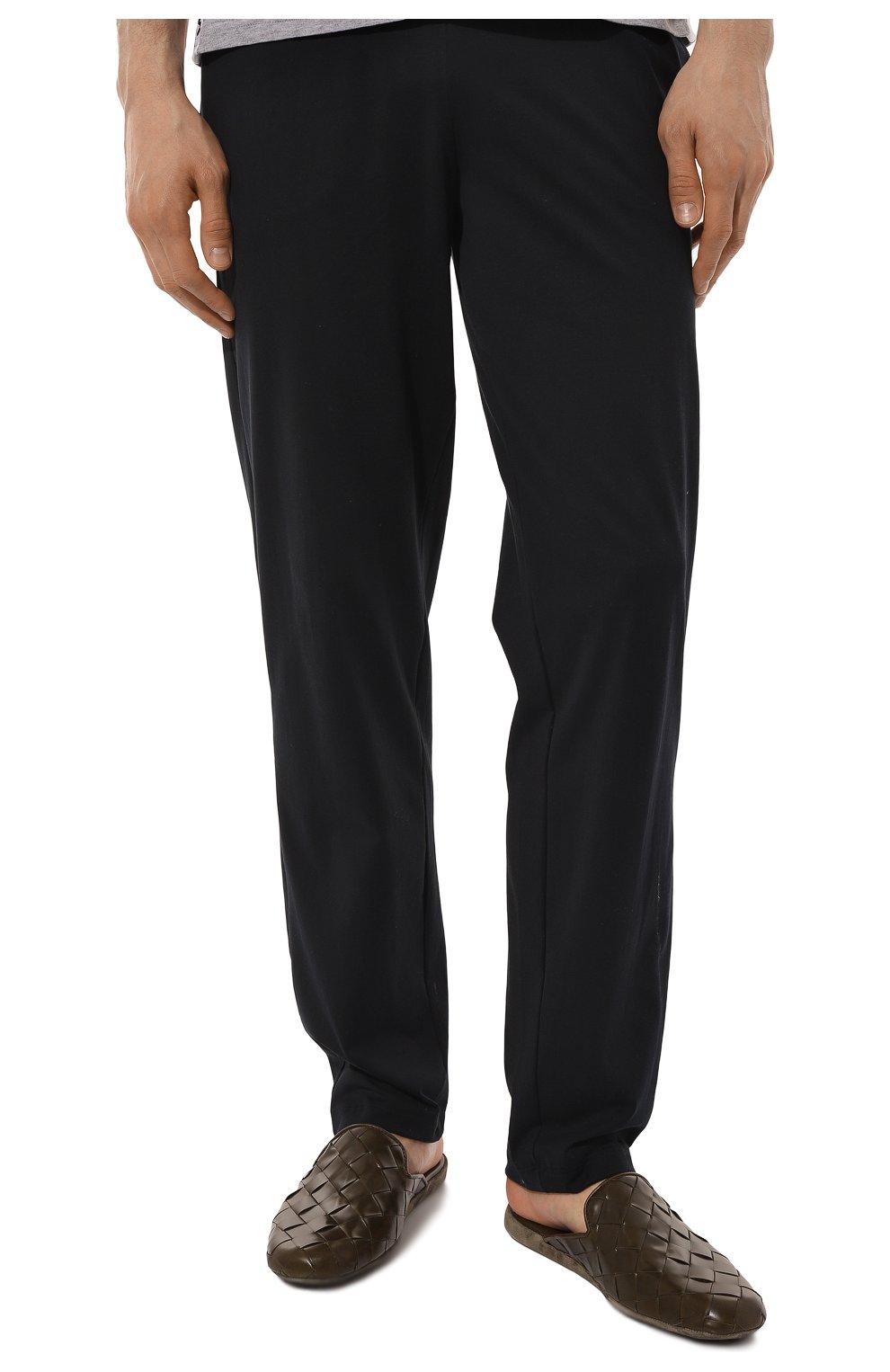 Мужского кожаные домашние туфли HOMERS AT HOME хаки цвета, арт. 20428/P0NCH0   Фото 3 (Материал внутренний: Натуральная кожа; Мужское Кросс-КТ: тапочки-обувь)