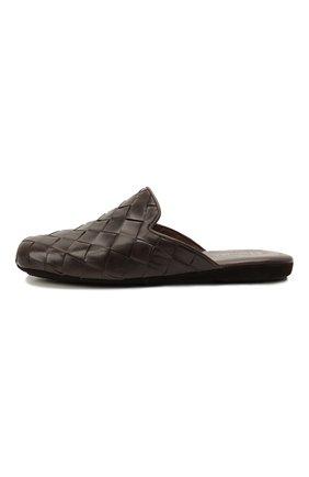 Мужского кожаные домашние туфли HOMERS AT HOME коричневого цвета, арт. 20428/P0NCH0   Фото 4 (Материал внутренний: Натуральная кожа; Мужское Кросс-КТ: тапочки-обувь)