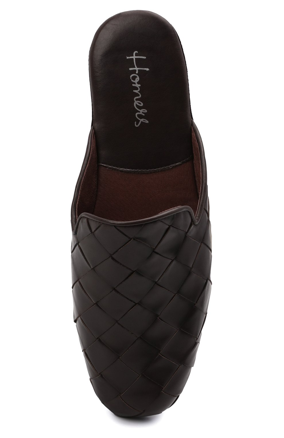 Мужского кожаные домашние туфли HOMERS AT HOME коричневого цвета, арт. 20428/P0NCH0   Фото 5 (Материал внутренний: Натуральная кожа; Мужское Кросс-КТ: тапочки-обувь)