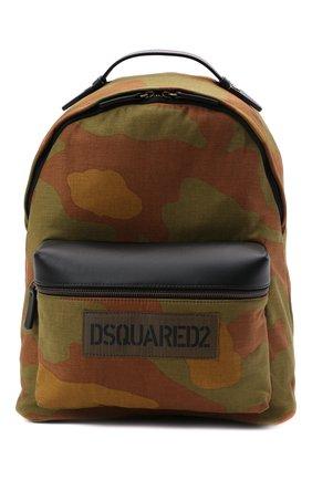 Мужской текстильный рюкзак DSQUARED2 хаки цвета, арт. BPM0063 168S0074 | Фото 1
