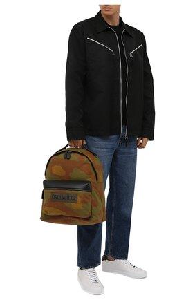 Мужской текстильный рюкзак DSQUARED2 хаки цвета, арт. BPM0063 168S0074 | Фото 2