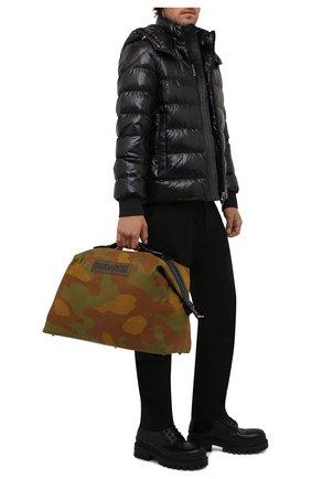 Мужская текстильная дорожная сумка DSQUARED2 хаки цвета, арт. DFM0029 168S0074   Фото 2