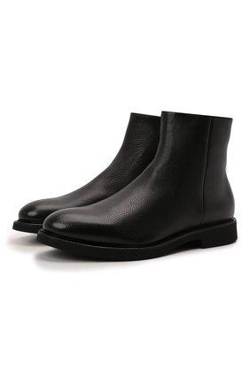 Мужские кожаные сапоги DOUCAL'S черного цвета, арт. DU2896GEN0UM019NN00 | Фото 1 (Подошва: Плоская; Материал утеплителя: Натуральный мех; Мужское Кросс-КТ: Сапоги-обувь, зимние сапоги)