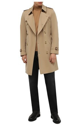 Мужские кожаные сапоги DOUCAL'S черного цвета, арт. DU2896GEN0UM019NN00 | Фото 2 (Подошва: Плоская; Материал утеплителя: Натуральный мех; Мужское Кросс-КТ: Сапоги-обувь, зимние сапоги)