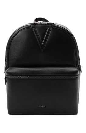 Мужской кожаный рюкзак VERSACE черного цвета, арт. 1000745/1A00593 | Фото 1