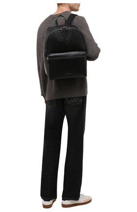Мужской кожаный рюкзак VERSACE черного цвета, арт. 1000745/1A00593 | Фото 2