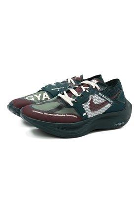 Мужские кроссовки nike x gyakusou zoomx vaporfly next% NIKELAB зеленого цвета, арт. CT4894-300 | Фото 1