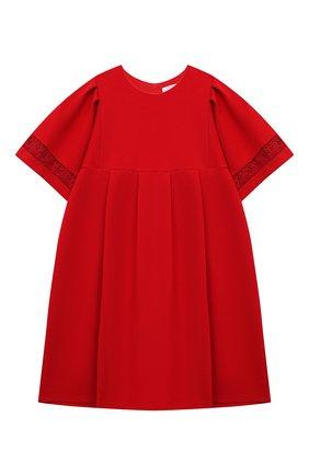 Детское платье CHLOÉ красного цвета, арт. C12843 | Фото 1