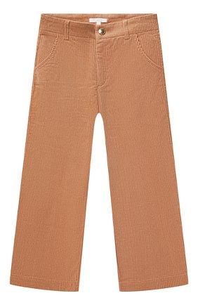 Детские хлопковые брюки CHLOÉ бежевого цвета, арт. C14678 | Фото 1