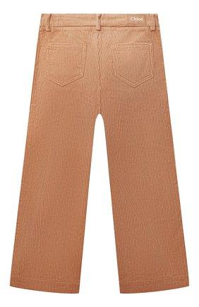 Детские хлопковые брюки CHLOÉ бежевого цвета, арт. C14678 | Фото 2