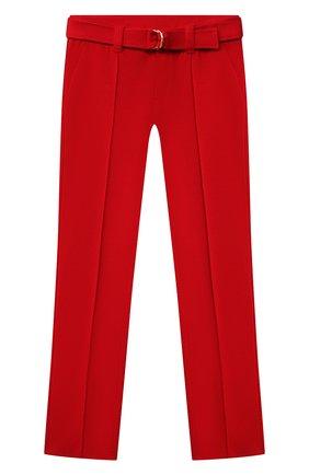Детские брюки с ремнем CHLOÉ красного цвета, арт. C1463A | Фото 1