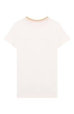 Детская хлопковая футболка CHLOÉ белого цвета, арт. C15D25 | Фото 2