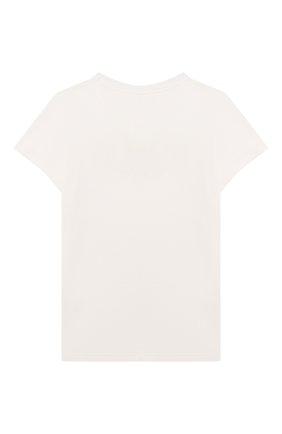Детская хлопковая футболка CHLOÉ белого цвета, арт. C15D22 | Фото 2