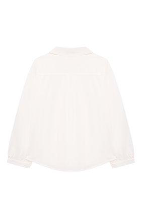Детское хлопковая блузка CHLOÉ белого цвета, арт. C15D03 | Фото 2