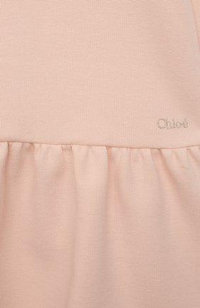 Детское платье CHLOÉ розового цвета, арт. C02300 | Фото 3 (Рукава: Короткие; Случай: Повседневный; Материал внешний: Синтетический материал, Хлопок; Девочки Кросс-КТ: Платье-одежда; Ростовка одежда: 12 мес | 80 см, 18 мес | 86 см, 2 года | 92 см, 3 года | 98 см, 9 мес | 74 см)