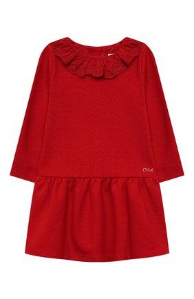 Детское платье CHLOÉ красного цвета, арт. C02300 | Фото 1 (Материал внешний: Синтетический материал, Хлопок; Рукава: Короткие; Девочки Кросс-КТ: Платье-одежда; Случай: Повседневный; Ростовка одежда: 12 мес | 80 см, 18 мес | 86 см, 2 года | 92 см, 3 года | 98 см, 9 мес | 74 см)