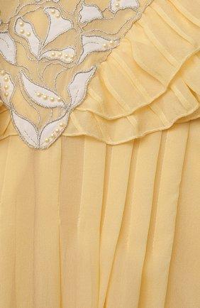 Детское шелковое платье CHLOÉ желтого цвета, арт. C12839 | Фото 3 (Материал внешний: Шелк; Рукава: Длинные; Случай: Повседневный; Девочки Кросс-КТ: Платье-одежда; Материал подклада: Вискоза; Ростовка одежда: 10 - 11 лет | 140 - 146см, 12 лет | 152 см, 3 года | 98 см, 4 года | 104 см, 5 лет | 110 см, 6 лет | 116 см, 8 лет | 128 см)