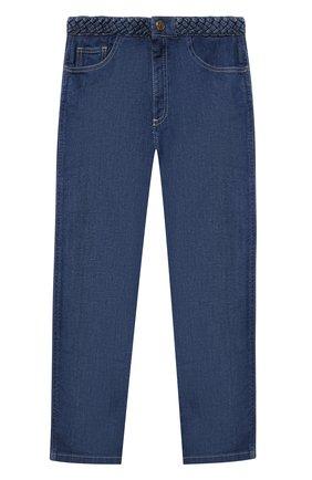Детские джинсы CHLOÉ голубого цвета, арт. C14672 | Фото 1