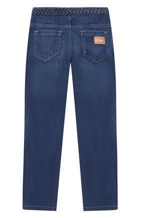 Детские джинсы CHLOÉ голубого цвета, арт. C14672 | Фото 2