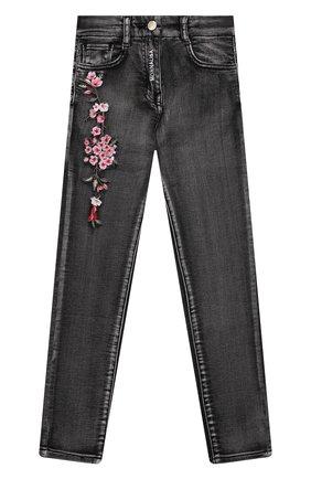 Детские джинсы MONNALISA черного цвета, арт. 198400R2 | Фото 1 (Материал внешний: Хлопок; Материал подклада: Синтетический материал; Кросс-КТ: джинсы; Ростовка одежда: 10 - 11 лет | 140 - 146см, 12 лет | 152 см, 3 года | 98 см, 4 года | 104 см, 5 лет | 110 см, 6 лет | 116 см, 7 лет | 122 см, 8 лет | 128 см)