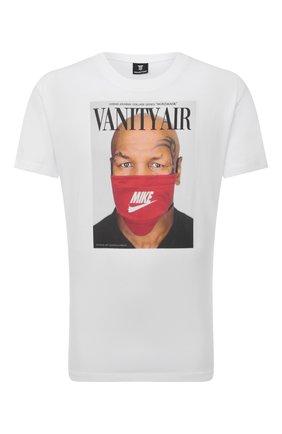 Мужская хлопковая футболка DIEGO VENTURINO белого цвета, арт. FW21-DV TS0 VAT   Фото 1