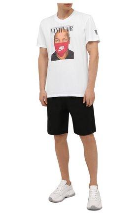 Мужская хлопковая футболка DIEGO VENTURINO белого цвета, арт. FW21-DV TS0 VAT   Фото 2
