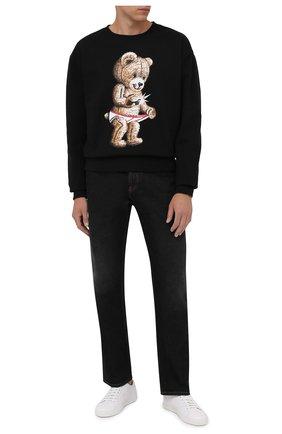 Мужской хлопковый свитшот DOMREBEL черного цвета, арт. MSNAP/SWEATSHIRT | Фото 2