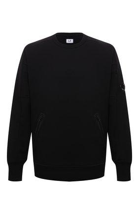 Мужской хлопковый свитшот C.P. COMPANY черного цвета, арт. 11CMSS058A-005086W | Фото 1 (Материал внешний: Хлопок; Рукава: Длинные; Длина (для топов): Стандартные; Мужское Кросс-КТ: свитшот-одежда; Принт: Без принта; Стили: Спорт-шик)