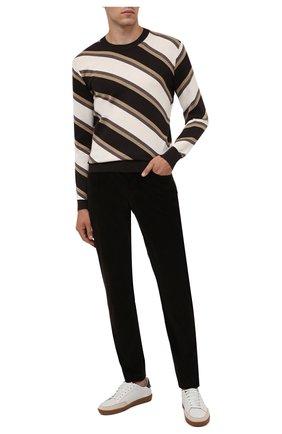 Мужские хлопковые брюки CORNELIANI коричневого цвета, арт. 884L01-1818502/00 | Фото 2
