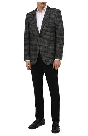 Мужские шерстяные брюки CORNELIANI черного цвета, арт. 884L03-1818117/00 | Фото 2