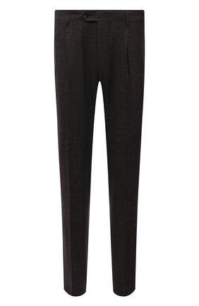 Мужские шерстяные брюки CORNELIANI коричневого цвета, арт. 884L08-1817520/00 | Фото 1