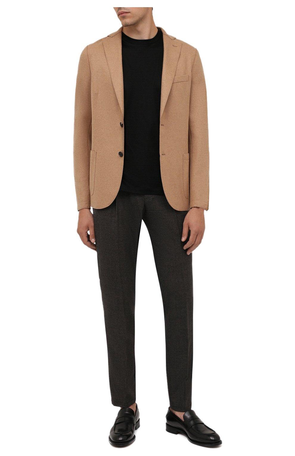 Мужские шерстяные брюки CORNELIANI коричневого цвета, арт. 884L08-1817520/00 | Фото 2 (Материал внешний: Шерсть; Длина (брюки, джинсы): Стандартные; Случай: Формальный; Стили: Кэжуэл)