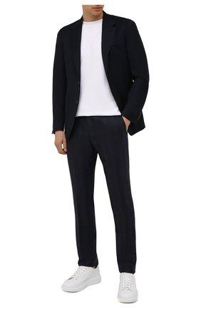 Мужские шерстяные брюки CORNELIANI темно-синего цвета, арт. 885B01-1817505/02 | Фото 2
