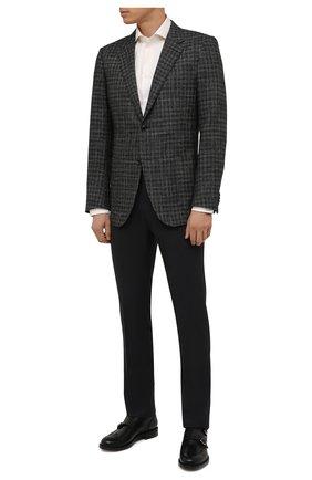 Мужские шерстяные брюки CORNELIANI темно-серого цвета, арт. 885B01-1818119/02 | Фото 2