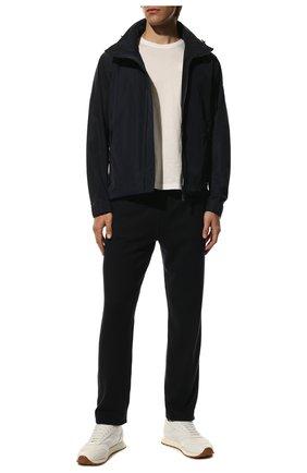 Мужские кашемировые брюки LORO PIANA темно-синего цвета, арт. FAG4527 | Фото 2 (Материал внешний: Кашемир, Шерсть; Случай: Повседневный; Мужское Кросс-КТ: Брюки-трикотаж; Стили: Кэжуэл; Длина (брюки, джинсы): Стандартные)