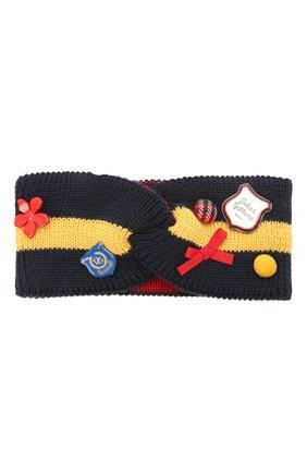 Детская шерстяная повязка DOLCE & GABBANA разноцветного цвета, арт. LBKH66/JBVD1   Фото 1