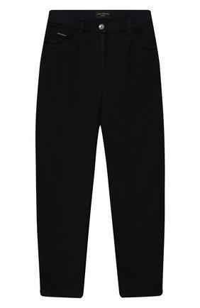 Детские джинсы DOLCE & GABBANA темно-синего цвета, арт. L52F30/LY049/8-14 | Фото 1 (Материал внешний: Хлопок; Кросс-КТ: джинсы; Ростовка одежда: 10 - 11 лет | 140 - 146см, 12 лет | 152 см, 8 лет | 128 см)