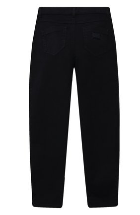 Детские джинсы DOLCE & GABBANA темно-синего цвета, арт. L52F30/LY049/8-14 | Фото 2 (Материал внешний: Хлопок; Кросс-КТ: джинсы; Ростовка одежда: 10 - 11 лет | 140 - 146см, 12 лет | 152 см, 8 лет | 128 см)