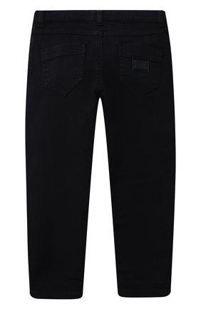 Детские джинсы DOLCE & GABBANA темно-синего цвета, арт. L52F30/LY049/2-6   Фото 2 (Материал внешний: Хлопок; Кросс-КТ: джинсы; Ростовка одежда: 2 года   92 см, 3 года   98 см, 4 года   104 см, 5 лет   110 см, 6 лет   116 см)